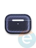 Чехол Carbon Fiber для наушников Apple AirPods Pro черный матовый