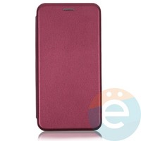 Чехол книжка боковой Fashion Case для Huawei Honor 9S/Y5P бордовый