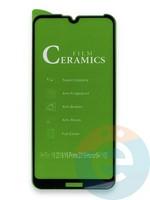 Защитное стекло Ceramics (в упаковке) для Huawei Y6 2019/Honor 8A черное