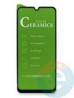 Защитное стекло Ceramics (в упаковке) для Samsung A50/A30/A20/40S/A50S/M30/M30S черное