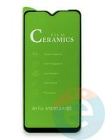 Защитное стекло Ceramics (в упаковке) для Samsung A10/A10S/M10 черное