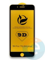 Защитное стекло 9D с полной проклейкой на Apple iPhone 7 Plus/8 Plus чёрное
