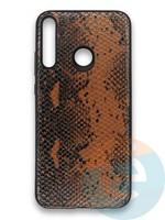Накладка силиконовая Pitone для Huawei Y7P 2020 коричневая