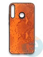 Накладка силиконовая Pitone для Huawei Y7P 2020 оранжевая