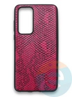 Накладка силиконовая Pitone для Huawei P40 малиновая