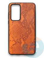 Накладка силиконовая Pitone для Huawei P40 оранжевая