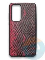 Накладка силиконовая Pitone для Huawei P40 бордовая