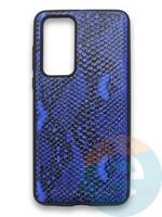 Накладка силиконовая Pitone для Huawei P40 синяя