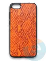 Накладка силиконовая Pitone для Huawei Y5 2018/Honor 7A оранжевая