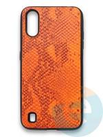 Накладка силиконовая Pitone для Samsung Galaxy A01 оранжевая