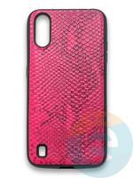 Накладка силиконовая Pitone для Samsung Galaxy A01 малиновая