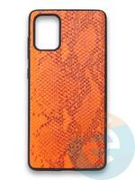 Накладка силиконовая Pitone для Samsung Galaxy A71 оранжевая