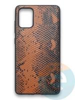 Накладка силиконовая Pitone для Samsung Galaxy A71 коричневая