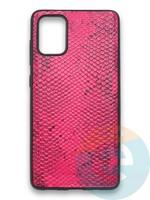 Накладка силиконовая Pitone для Samsung Galaxy A71 малиновая