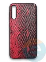 Накладка силиконовая Pitone для Samsung Galaxy A50 бордовая