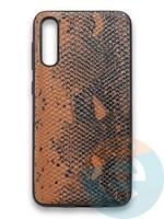 Накладка силиконовая Pitone для Samsung Galaxy A50 коричневая