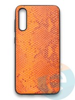 Накладка силиконовая Pitone для Samsung Galaxy A50 оранжевая