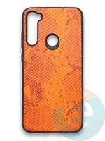 Накладка силиконовая Pitone для Xiaomi Redmi Note 8T оранжевая