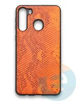 Накладка силиконовая Pitone для Samsung Galaxy A21 оранжевая