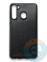 Накладка силиконовая Pitone для Samsung Galaxy A21 черная