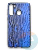 Накладка силиконовая Pitone для Samsung Galaxy A21 синяя