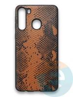 Накладка силиконовая Pitone для Samsung Galaxy A21 коричневая
