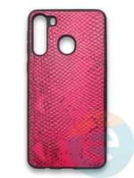 Накладка силиконовая Pitone для Samsung Galaxy A21 малиновая