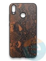 Накладка силиконовая Pitone для Huawei Honor 8X коричневая