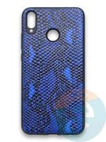 Накладка силиконовая Pitone для Huawei Honor 8X синяя