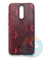 Накладка силиконовая Pitone для Xiaomi Redmi 8 бордовая
