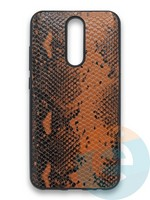 Накладка силиконовая Pitone для Xiaomi Redmi 8 коричневая