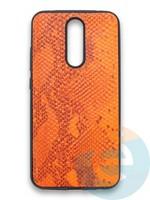 Накладка силиконовая Pitone для Xiaomi Redmi 8 оранжевая