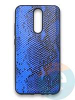 Накладка силиконовая Pitone для Xiaomi Redmi 8 синяя