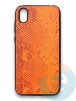 Накладка силиконовая Pitone для Huawei Y5 2019/Honor 8S оранжевая