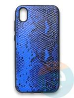 Накладка силиконовая Pitone для Huawei Y5 2019/Honor 8S синяя