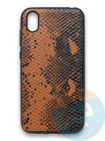Накладка силиконовая Pitone для Huawei Y5 2019/Honor 8S коричневая