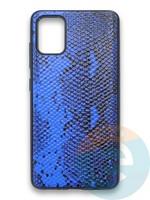 Накладка силиконовая Pitone для Samsung Galaxy A51 синяя