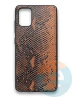 Накладка силиконовая Pitone для Samsung Galaxy A51 коричневая