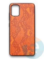 Накладка силиконовая Pitone для Samsung Galaxy A51 оранжевая