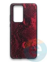 Накладка силиконовая Pitone для Huawei P40 Pro бордовая