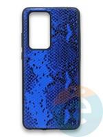 Накладка силиконовая Pitone для Huawei P40 Pro синяя