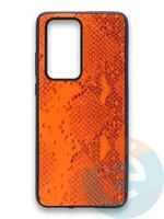 Накладка силиконовая Pitone для Huawei P40 Pro оранжевая