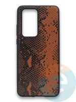 Накладка силиконовая Pitone для Huawei P40 Pro коричневая