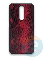 Накладка силиконовая Pitone для Xiaomi Redmi K30 бордовая