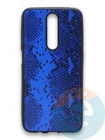 Накладка силиконовая Pitone для Xiaomi Redmi K30 синяя