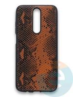 Накладка силиконовая Pitone для Xiaomi Redmi K30 коричневая