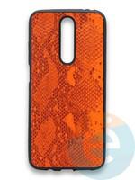 Накладка силиконовая Pitone для Xiaomi Redmi K30 оранжевая