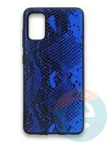 Накладка силиконовая Pitone для Samsung Galaxy A41 синяя
