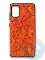 Накладка силиконовая Pitone для Samsung Galaxy A41 оранжевая