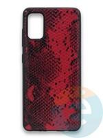 Накладка силиконовая Pitone для Samsung Galaxy A41 бордовая
